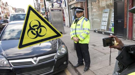 Ein Falschparker in England will seinen Strafzettel nicht bezahlen – wegen Corona.