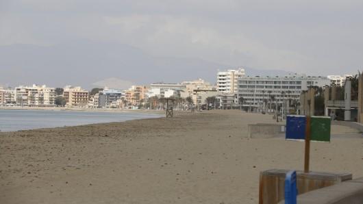 Die Strände auf Mallorca sind seit Tagen menschenleer.
