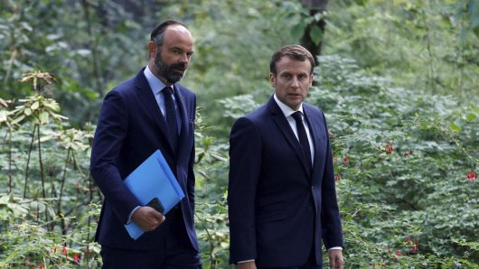Frankreich: Die komplette Regierung unter Premierminister Édouard Philippe (l.) ist zurückgetreten.