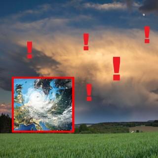 Wetter-Experten warten vor einem Tropensturm, der auf Deutschland zurast. (Symbolbild)