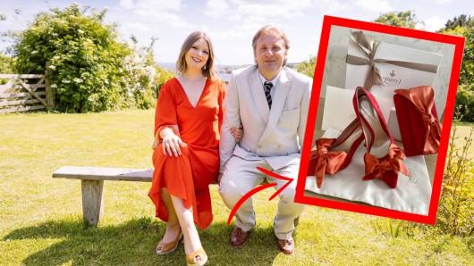 Die Hochzeit steht vor der Tür. Tegen Rowett und Adam Wills geben sich im September das Ja-Wort. Die Brautschuhe bereiteten jedoch Kopfzerbrechen.