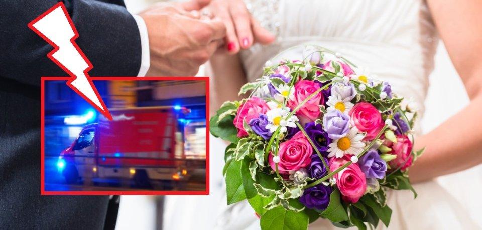 Die Hochzeit wurde durch einen Unfall unterbrochen. (Symbolbild)