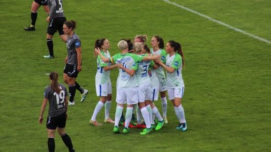 Jubel nach dem 1:0 gegen Jena.