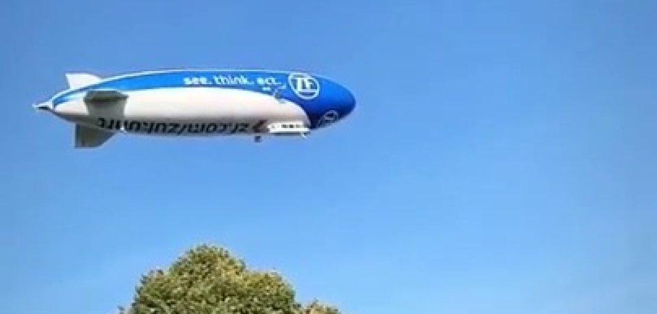 Der Zeppelin drehte seine Runden über Braunschweig, Wolfsburg und Hildesheim.