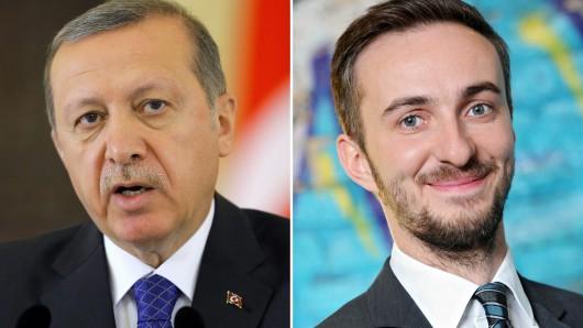 Der türkische Präsident Recep Tayyip Erdoğan und Satiriker Jan Böhmermann.