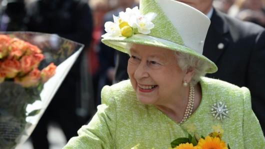 Blumen für die Queen in Windsor.