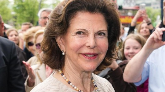 Die schwedische Königin Silvia beim Kurzbsuch in Hamburg.