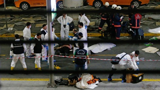 Szenen nach dem Anschlag in Istanbul.