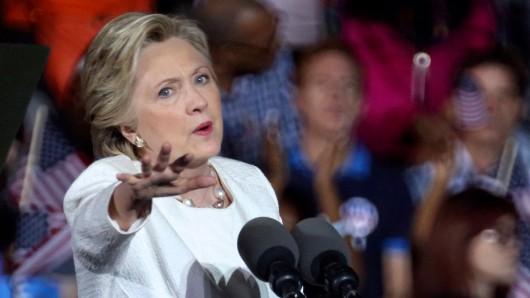 Hillary Clinton bei einem Wahlkampfauftritt.