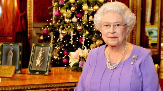 Die Queen bei ihrer Weihnachtsansprache im Jahr 2014.