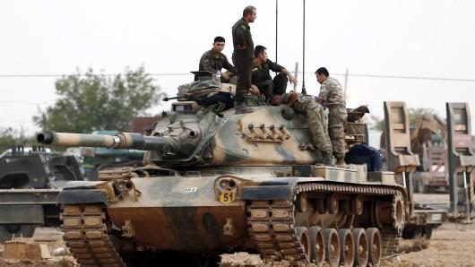 Türkische Soldaten während der Offensive gegen den IS. (Archivbild)