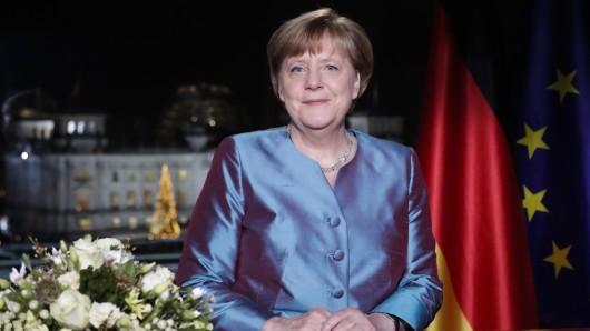 Kanzlerin Angela Merkel (CDU) bei ihrer Neujahrsansprache.