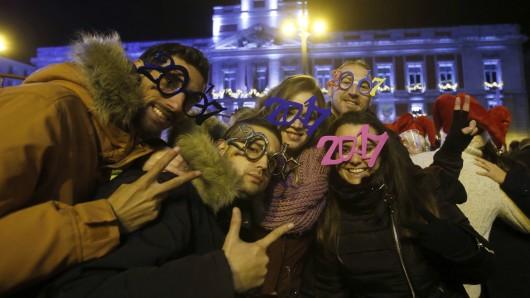 Die Stadtverwaltung von Madrid testet die Glocken immer einen Tag vor Silvester.