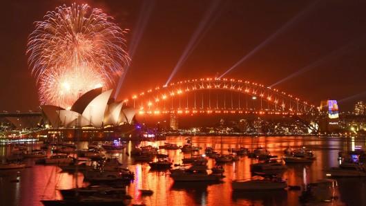 Sydney begrüßt das neue Jahr.