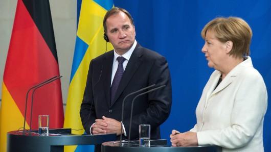 Schwedens Ministerpräsident Löfven und Kanzlerin Merkel. (Archivbild)