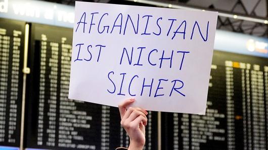Protest am Flughafen. (Archivbild)