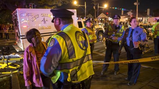 Tragischer Zwischenfall beim Karneval in New Orleans.