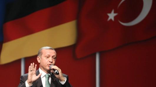 Der türkische Präsident Recep Tayyip Erdogan bei einem Auftritt in Deutschland. (Archivbild)