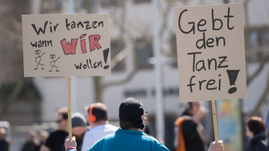 Protest gegen das Tanzverbot an Karfreitag. (Archivbild)