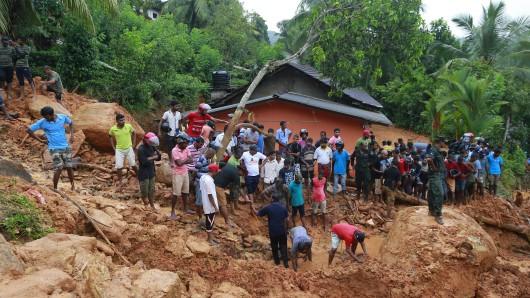 In Bellana Village (Sri Lanka) ist nicht mehr viel übrig geblieben.