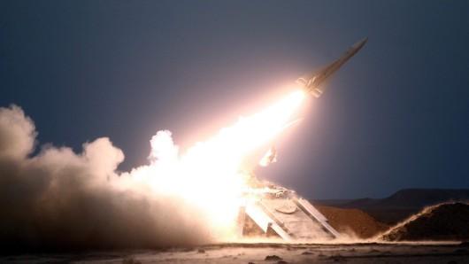 Eine Rakete der iranischen Revolutionsgarden. (Archivbild)