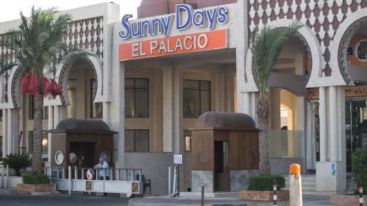 Blick das Hotel in Hurghada, an dessen Strand ein Attentäter am Freitag Urlauber mit dem Messer attackierte.