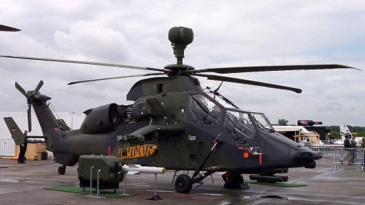 Ein Kampfhubschrauber Tiger der Bundeswehr.