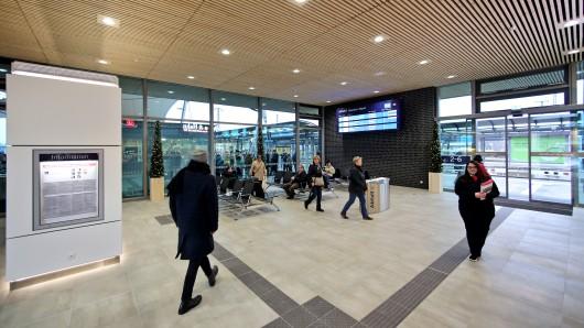 So sehen Sieger aus: Der Bahnhof in Wittenberg.