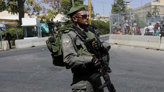 Ein israelischer Grenzsoldat in Hebron im Westjordanland. (Archivbild)