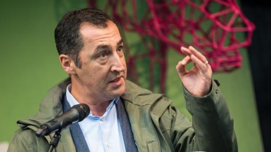 Grünen-Chef Cem Özdemir bei einer Wahlkampfveranstaltung in Hannover.
