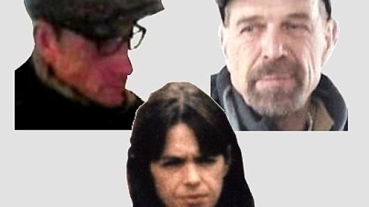 Die früheren RAF-Terroristen Daniela Klette, Ernst Volker Staub und Burkhard Garweg.