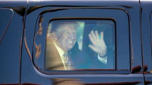 Gute Laune: US-Präsident Donald Trump on tour (Archvbild).