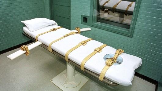 ARCHIV - Aufnahmedatum unbekannt, USA, Huntsville: Die Todeszelle des berüchtigten Huntsville-Gefängnisses in Texas. (zu dpa Weniger Hinrichtungen und Todesurteile weltweit vom 11.04.2018) Foto: Paul Buck/epa/dpa +++ dpa-Bildfunk +++