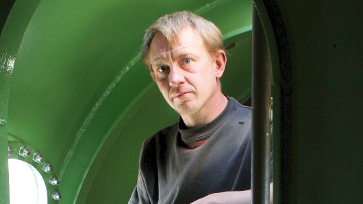 Peter Madsen in seinem U-Boot Nautilus.
