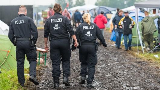 Die Polizei ist auf dem Hurricane-Festival unterwegs (Archivbild).
