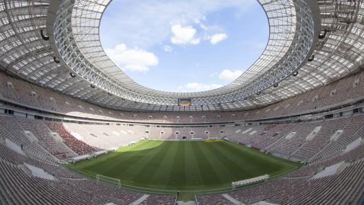 Blick in das Luschniki-Stadion.