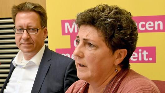 Niedersachsens Grünen-Chefin Anja Piel und ihre FDP-Amtskollege Stefan Birkner (Archivbild).
