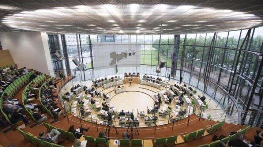 Der Landtag in Sachsen.