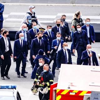 Frankreich: EmmanuelMacron ist in Nizza eingetroffen.