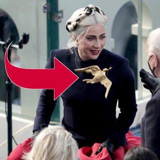 Lady Gaga und Präsident Joe Biden.