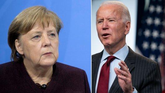 Angela Merkel dürfte ein neues Foto von Joe Biden nicht gefallen.