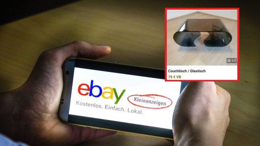 Ein Käufer auf Ebay Kleinanzeigen gibt so einige Behauptungen zu dem angebotenen Couchtisch ab.