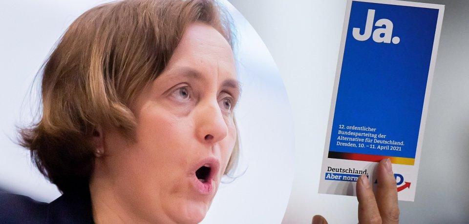 AfD-Vize Beatrix von Storch reagierte entsetzt auf dem Parteitag.