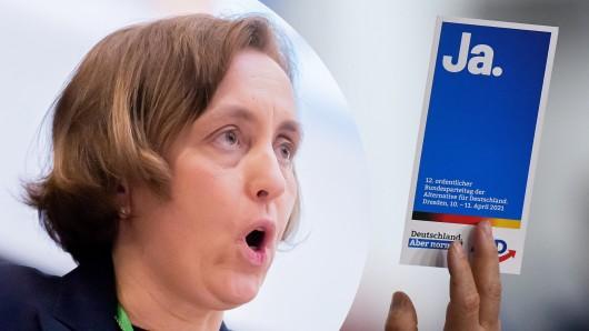 Sogar AfD-Vize Beatrix von Storch reagierte entsetzt auf dem Parteitag.