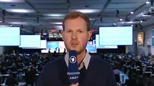 ARD-Reporter Martin Schmidt berichtete für die Tagesschau vom AfD-Parteitag.