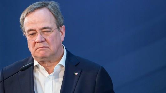 Harte Stunden für Armin Laschet in der CDU/CSU-Fraktion.