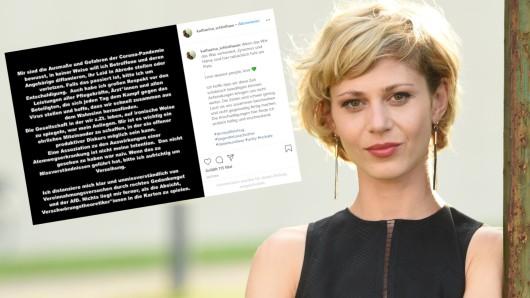 """Schauspielerin Katharina Schlothauer machte mit bei der Kampagne """"Alles dicht machen"""". Nun steht sie heftig für ihren Clip in der Kritik. Deshalb nahm sie über Instagram Stellung."""