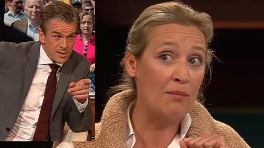 AfD-Spitzenpolitikerin Alice Weidel in der ZDF-Talkshow von Markus Lanz.