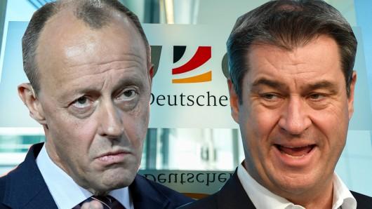 CSU-Chef Markus Söder teilt gegen CDU-Mann Friedrich Merz aus.
