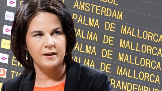 Annalena Baerbock spricht im ZDF über Flugreisen.